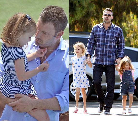 Ben Affleck sokáig nyálas képű tinikedvencként szerepelt a mozifilmekben, ám amióta rendezőként többször bizonyította, hogy ért a szakmához, mintha ez a bájgúnárság is eltűnt volna róla. Érett férfivá vált, aki bizony apaként is megállja a helyét. Feleségétől, Jennifer Garnertől három gyerkőce született: Violet 2005-ben, Seraphina 2009-ben, fiuk, Samuel pedig 2012-ben.
