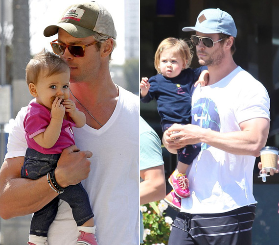 A rettenthetetlen Thor a valóságban odaadó édesapa: a 31 éves Chris Hemsworth és felesége, Elsa Pataky három gyermek szülei. Lányuk, India 2012-ben jött világra, az ikrek, Tristan és Sasha pedig idén márciusban születtek.