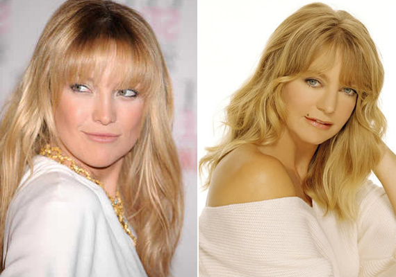 Goldie Hawn és lánya, a szintén színésznő Kate Hudson le sem tagadhatná egymást. Kate pont olyan szép, mint dögös anyukája.