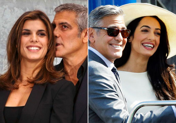 Bal oldalon még Elisabettával, jobb oldalon már feleségével, Amallal. Te rájöttél volna, melyik melyik?