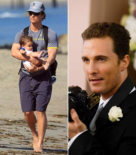 Matthew McConaughey  A jóképű szívtipró 2007-ben ismerkedett meg Camila Alves brazil modellel, első gyermekük, Levi pedig 2008-ban született meg. 2010 januárjában egy újabb csöppséggel bővült a család, aki a Vida nevet kapta büszke szüleitől.  Kapcsolódó cikk: Apaként is őrjítően szexi! Ennek a színésznek még te is szülnél gyereket »