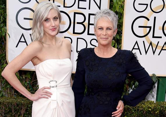 Jamie Lee Curtis 29 éves lánya, Annie Guest tiszta anyja! Ahogy a képen is látszik, még a mozdulataik is teljesen egyformák.