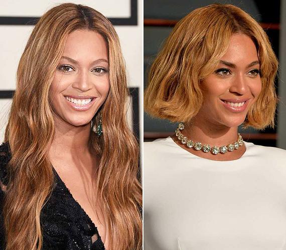 Beyoncé a Grammy-gálán még hosszú hajjal hódított, de az Oscar-afterpartira már bobra váltott, ami kifejezetten jól áll a 33 éves énekesnőnek.