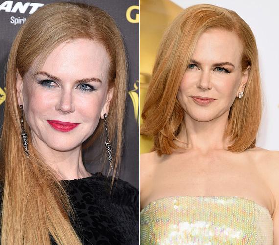 Nicole Kidman is a vállig érő a hajat favorizálja, ahogy az Oscaron láthatta a világ, de korábban az ő haja is sokkal hosszabb volt.