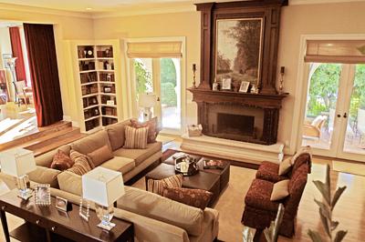 Egy férfiasan elegáns nappali