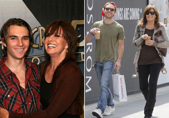 Jó a kapcsolat Linda Gray és unokái között. Ryderrel például - képünkön - szívesen megy vásárolni, kávézni vagy strandolni. A 25 éves srácnak az sem okoz gondot, ha nagyija csomagjait kell cipelnie.