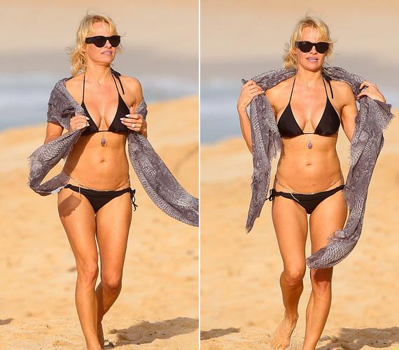 Pamela Anderson láthatóan karbantartja a testét, bárki megirigyelhetné vonalait. A 47 éves, kétgyermekes színésznőt tavaly karácsonykor fotózták le strandolás közben.