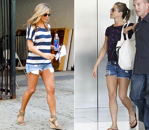 Jennifer Anistont pár napja kapták le farmersortban, amint éppen távozóban volt egy Beverly Hills-i spából. A 45 éves színésznőnek remekül áll a rövidnadrág, ha pedig még lófarokba is köti a haját, tíz évet simán letagadhat.