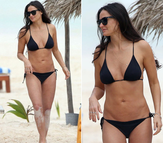 Bruce Willis lányainak anyjáról, az 52 éves Demi Moore-ról tavaly, Mexikó partjainál készültek ezek a bikinis fotók. A Ghost Mollyja talán még huszonéves lányait is lepipálja ezekkel a képekkel.