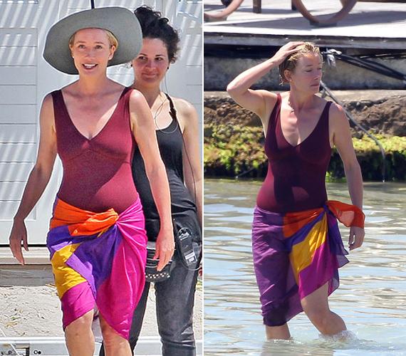 Az 56 éves Emma Thompsonról 2012-ben készültek ezek a fürdőruhás képek, a színésznő akkor 53 éves volt. Vele kapcsolatban is igaz, amit az előző képnél Helen Mirrenről írtunk, sok nő szeretne olyan szép és feszes bőrt, jó alakot ennyi idősen, mint amilyen neki van.