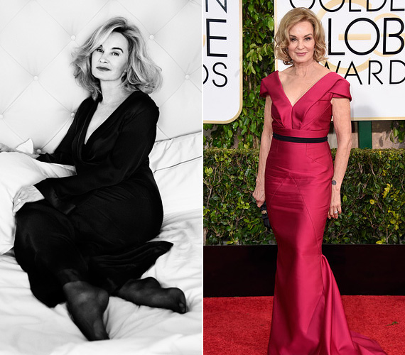 Jessica Lange Oscar-díjas színésznő, akit a fiatal generáció az Amerikai Horror Story sorozat révén ismer, 65 évesen is az örök fiatalságot képviseli. A sztár a Marc Jacobs márka egyik arca.