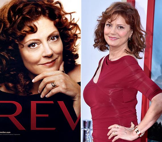 """A 68 éves Susan Sarandon 2004-ben, 58 éves korában adta arcát a Revlon kozmetikumokhoz. Mint a színésznő egy interjúban elárulta, Hollywoodban az öregedés elleni küzdelem eleve vesztes csata, így nem érdemes vele túl sokat foglalkozni. """"Semmi bajom azokkal, akik úgy gondolják, megcsináltatnak magukon ezt-azt, és ettől jobban érzik magukat. De azt hiszem, egy idő után fontosabb, hogy az ember felismerje a belső értékeit, és azokra koncentráljon""""."""