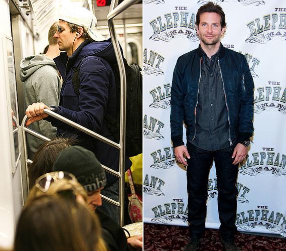Bradley Cooper a hátizsákjával és a baseball-sapkában egyáltalán nem tűnt hollywoodi sztárnak, persze azért a szemfüles utasok közül volt, aki rögtön kiszúrta a Másnaposok és A napos oldal 39 éves színészét, amint néhány napja metrózott New Yorkban.