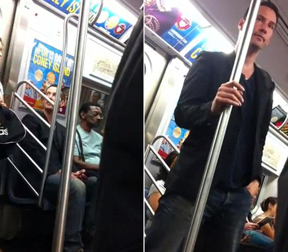 Keanu Reeves udvarias gesztusa bejárt a netet: a Mátrix színésze meglátta, hogy egy testesebb hölgy szállt be a kocsiba, így előzékenyen felállt, és átadta neki a helyet a New York-i metrón.