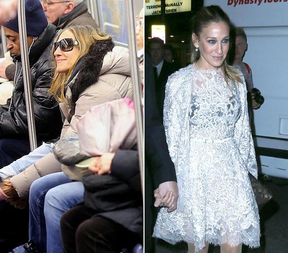 Sarah Jessica Parkert sem először kapták le a metróban, a Szex és New York sztárja a gyerekeivel is sokszor használja a tömegközlekedés eme fajtáját.