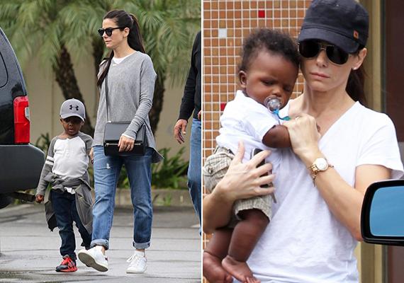 Sandra Bullock 2010-ben fogadta örökbe az akkor három és fél hónapos kisfiút, aki a Louis Bardo Bullock nevet kapta. A képeken jól látszik, hogy az ennivaló csöppség milyen nagyot nőtt az utóbbi időben.