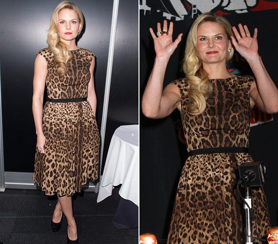 A Dr. House sztárja, a 35 éves Jennifer Morrison nem vadóc stílusáról híres, ezért érdekes a képen látható választása. A színésznő 2013-ban a New York-i Comic Conon viselte ezt a ruhát.