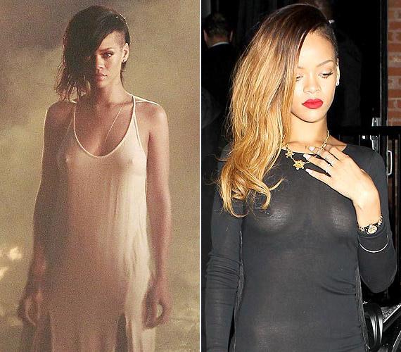 Rihanna fiatal kora ellenére néha túlságosan is merész. Mellbimbóit már többször is a nyilvánosság elé tárta.
