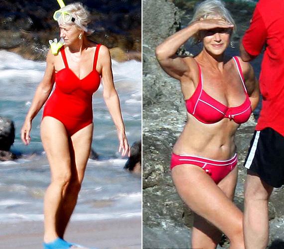 Helen Mirren állítása szerint az a bizonyos 2008-as bikinis fotó állandóan kísérteni fogja: az akkor 63 éves színésznőt Olaszországban kapták le a tengerparton, és az egész világ ámuldozott, hogy milyen jó formában van. A sztár úgy véli, leginkább azért nézett ki remekül a képen, mert jó szögből fotózták, amúgy sokszor ingadozik a testsúlya.
