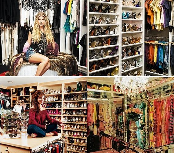 Fergie szőrmével és kristálycsillárral dobta fel gardróbját, Paula Abdul az egészet bepolcozta, Paris Hilton pedig luxusüzletként rendezte be.