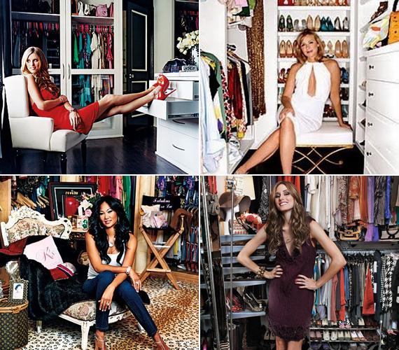 A hugica, Nicky Hilton mindent pedáns rendben tárol, akárcsak Kim Cattrall, míg Kimora Lee Simmons és Olivia Palermo a bohém összevisszaság hívei.