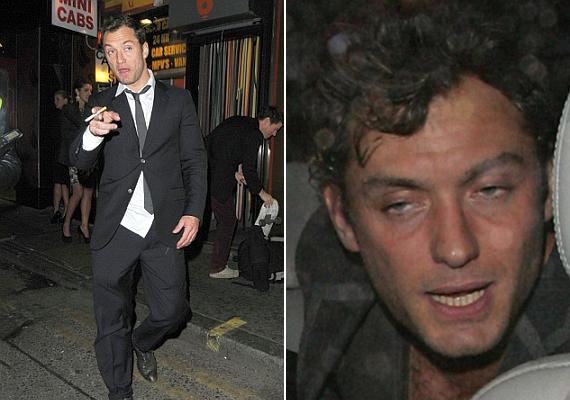 Nem Jude Law az egyedüli sztár, aki gyakran önt fel a garatra. Részegen egyáltalán nem néznek ki Hollywood csillogó isteneinek.