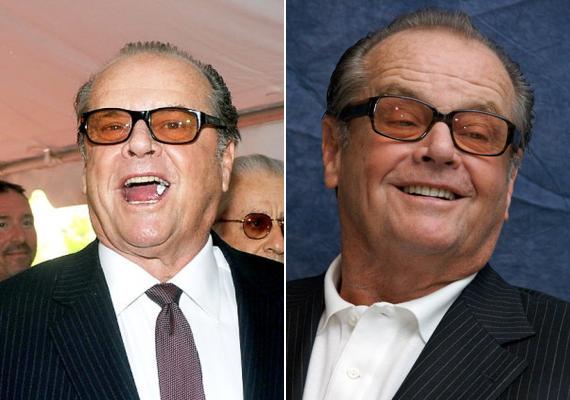 A nyitott szájjal rágózás különösen az amerikaiak között dívik, így ne csodálkozzunk, hogy Jack Nicholson is ennek a szokásnak hódol.