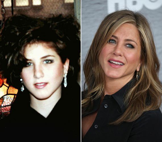 Jennifer Aniston szalagavatós fotóját elnézve valószínűleg inkább bájának, semmint rendezett frizurájának köszönhette, hogy akadt olyan srác, aki elkísérte a bálba. Az eredetileg sötétbarna hajú színésznő a későbbiekben világosabb színre váltott, és sikerült megszelídítenie a rakoncátlan tincseket is. Érdekesség, hogy bár karrierje a kilencvenes években lendült meg, de 1988-ban - talán nem sokkal az érettségi után - már felbukkant a Mac, a földönkívüli barát című filmben, akkor még statisztaként.