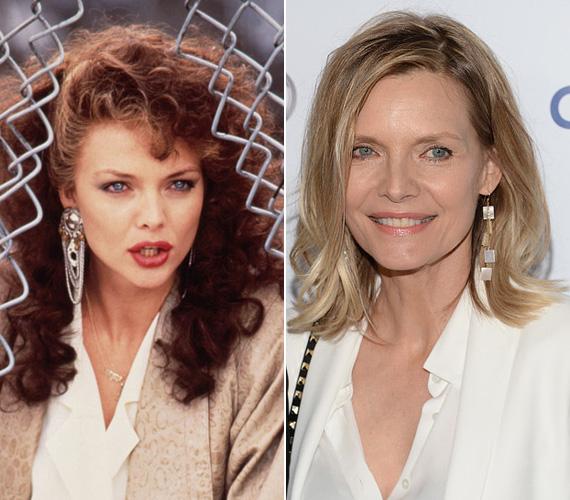 Michelle Pfeiffer igazi kortalan szépség, nem sokat változott a nyolcvanas évek óta, ahol olyan népszerű filmekben láthatták a nézők, mint Az eastwicki boszorkányok, a Sólyomasszony vagy a Keresztanya. Szerencsére azért a frizurája és a sminkje sokkal visszafogottabb lett az elmúlt évtizedekben és leginkább a természetességre szavaz a sztáros rendezvényeken - alig hihető, hogy a színésznő már 56 éves.