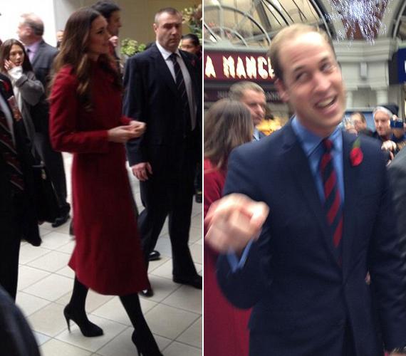 Csütörtökön a hercegi pár mindenkit meglepett azzal, hogy megjelent egy londoni metróállomáson, melyekről a rajongók posztoltak képeket.