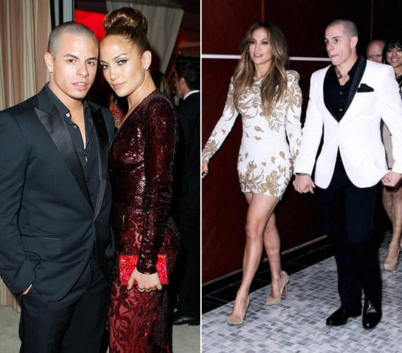 Jennifer Lopez aktuális barátjával, a 24 éves Casper Smarttal.