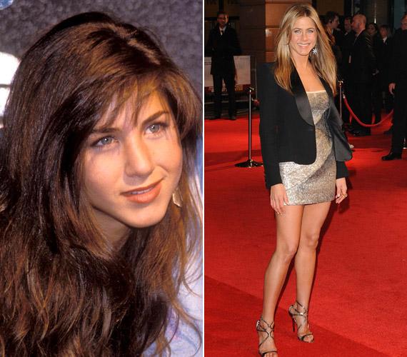 Jennifer Aniston bolyhos hajú, aranyos tinilányból sok nő kedvencévé vált, hiszen még a vörös szőnyegen is laza eleganciával tud megjelenni.