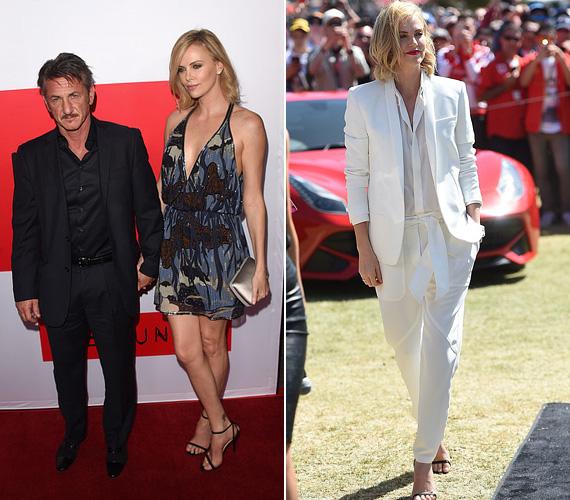 Charlize Theron március 12-én párjával, Sean Penn-nel a Gunman premierjén mutatkozott a nyárias Gucci ruhában. A hófehér szettet pedig vasárnap viselte a Forma-1 Ausztrál Nagydíján.