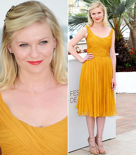 Kirsten Dunst  A Pókember sztárja a 2011-es Cannes-i Filmfesztivál egyik meghívottjaként érkezett a Melancholia című film premierjére. Kikericssárga Chloe-ruhája remekül illett a napsütéses, tengerparti filmszemle könnyed hangulatához.  Kapcsolódó cikk: Fejébe szállt az ital! Kínosan sokat mutatott magából a fiatal színésznő »