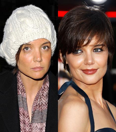 Katie Holmes  Tom Cruise ifjú neje is csak egy átlagos nő smink nélkül.  Kapcsolódó cikk: Katie Holmes ritka csúnya ruhában ment vacsorázni »