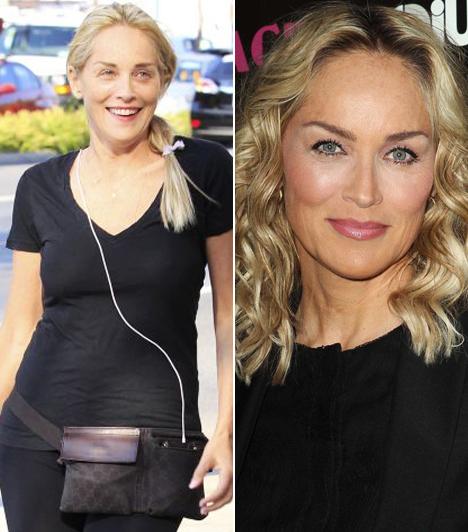 Sharon Stone                         Az Elemi ösztön sztárja smink nélkül, retusálatlanul is meglepően szép, annak ellenére, hogy már az ötvenen is régen túl van.                         Kapcsolódó cikk:                         Gátlások nélkül mutatta meg magát! Így még nem láthattad Sharon Stone-t