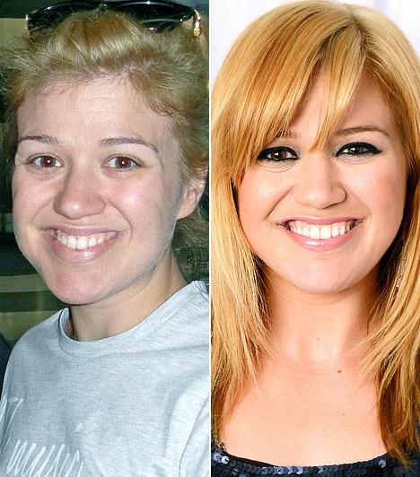 Kelly ClarksonAz énekesnőnek jól áll, ha kifesti magát.