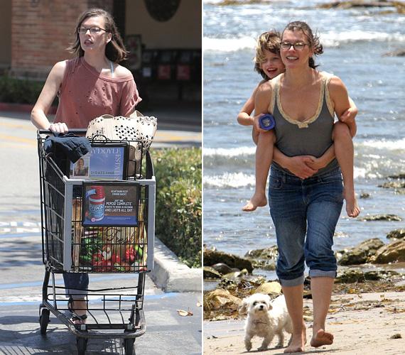 Milla Jovovich gyakran jár vásárolni a szupermarketbe, ahol ugyanúgy tolja a kosarát, mint bárki más. Ha pedig teheti, akkor a 38 éves színésznő kislányával, a hatéves Everrel játszik, mint ahogy le is kapták őket korábban Los Angelesben.
