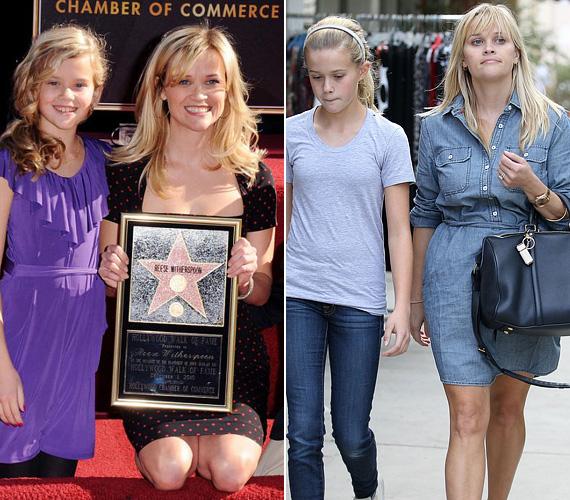 Reese Witherspoon lánya, Ava - akinek édesapja Ryan Phillippe - egy az egyben híres anyukájára ütött. A szőke tinilány, aki idén 16 éves lesz, még grimaszaiban és mimikájában is pont olyan, mint színésznő édesanyja.