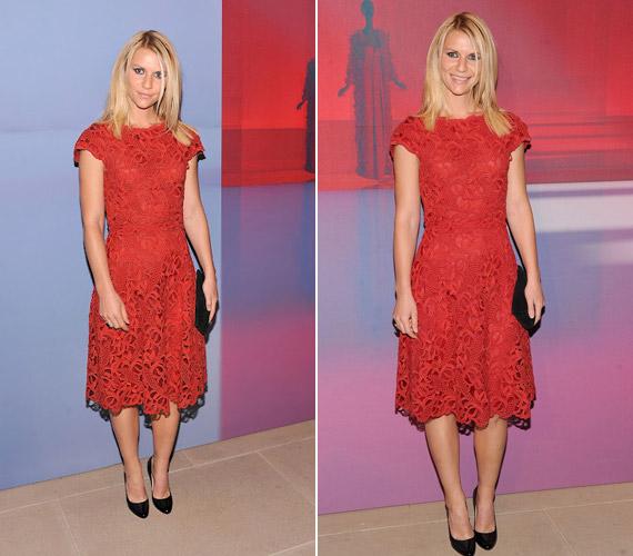 Claire Danes színésznő Valentino ruhájában pózolt.