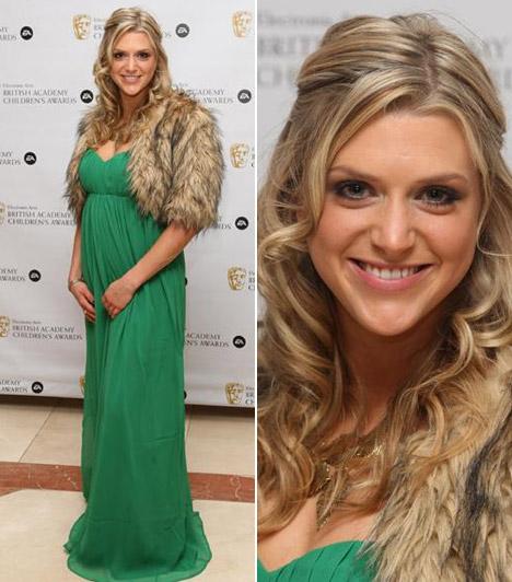 Anna Williamson                         Az ITV tévécsatorna Daybreak című reggeli műsorának 1981-es születésű műsorvezetője ragyogott zöld estélyijében a gálán.