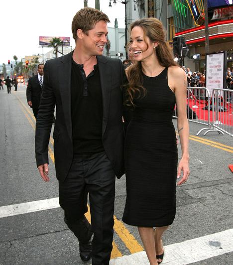 Angelina Jolie és Brad Pitt  Hollywood álompárja 2005 óta él boldog kapcsolatban. A színészet mellett példamutató szülők: három vér szerinti és három örökbefogadott gyermeket nevelnek. Kapcsolódó cikk: Exkluzív fotók! Angelina Jolie és Brad Pitt álomszép luxusvillája »