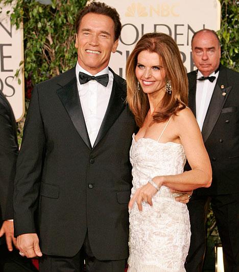Maria Shriver és Arnold Schwarzenegger  Az akcióhős 1986. április 26-án vette feleségül Mariah Shrivert, John F. Kennedy unokahúgát. Házasságuk 25 évig makulátlannak tűnt, mígnem kiderült, hogy Schwarzeneggernek van egy fia korábbi házvezetőnőjüktől. Nem váltak el, mivel felesége megbocsájtott a színésznek.
