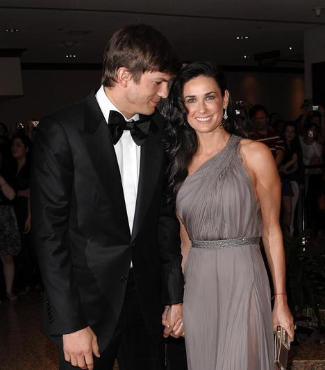 Demi Moore és Ashton Kutcher  15 év korkülönbségük ellenére sokáig jól kijött egymással Demi Moore és Ashton Kutcher. A sztárpár 2003-ban kezdett járni, és 2005-ben házasodtak össze, ám 2011 végén szakítottak.