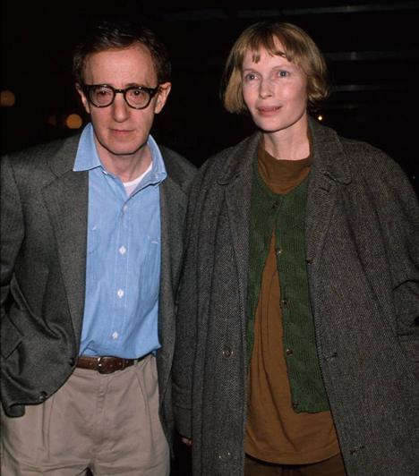 Mia Farrow és Woody Allen  Farrow 1980-ban lett a híres rendező élettársa. Kapcsolatuknak az vetett véget, amikor Farrow rádöbbent, hogy Allennek viszonya van örökbe fogadott lányával, Soon-Yi Previnnel. Válóperük 1992-ben ért véget, Allen pedig 1997-ben kérte meg Previn kezét.