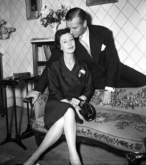 Vivien Leigh és Laurence OlivierA kétszeres Oscar-díjas színésznő 1940-ben ment feleségül Laurence Olivier színészhez. Leigh-nél bipoláris rendellenességet állapítottak meg, hangulatváltozásai és nehéz természete végül tönkretette házasságát, amelynek két évtizedet követően 1960-ban lett vége.