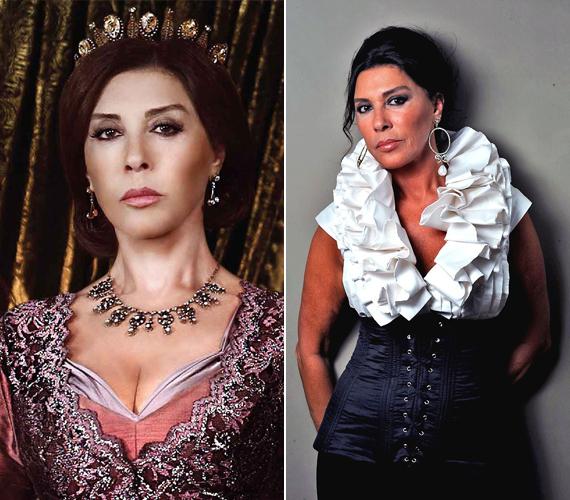 A 71 éves Nebehat Cehre török színésznő, modell és énekesnő, 1960-ban ő lett Törökország legszebb nője. A volt szépségkirálynő alakította a Szulejmánban Ayse Hafsa Validét.
