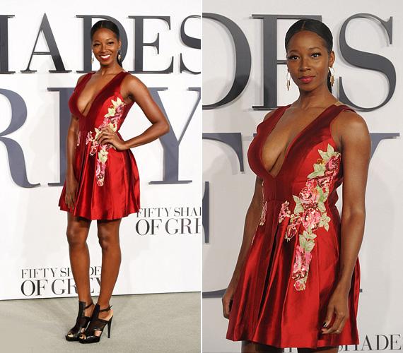 A népszerű angol R&B énekesnő, Jamelia merész piros selyemruhában mutatta meg nőies alakját és dekoltázsát. A 34 éves, kétgyermekes sztáranyuka 38-as méretet hord, és mint mondta, remekül érzi magát a testében, nem akar vékonyabb lenni.