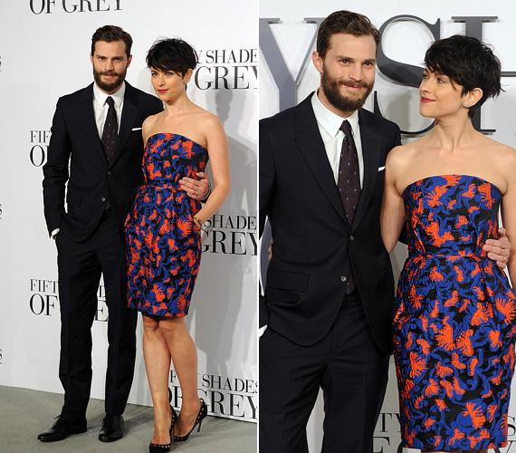 Christian Greyt Jamie Dornan játssza a filmben, a 32 éves színészt felesége, Amelia Warner színésznő kísérte el a bemutatóra.