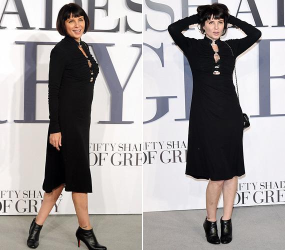 Sadie Frost színésznő, Jude Law volt felesége a regény nagy rajongója, ezért ki nem hagyta volna a bemutatót. A 49 éves, négygyermekes sztár igazán dögös volt fekete ruhájában, amelyből kacéran kivillant fekete melltartója.